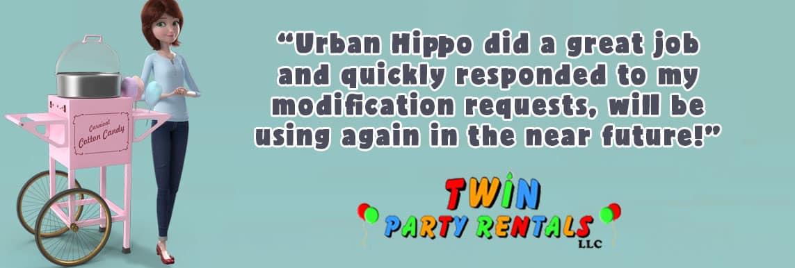 Twin Party Rentals Testimonial