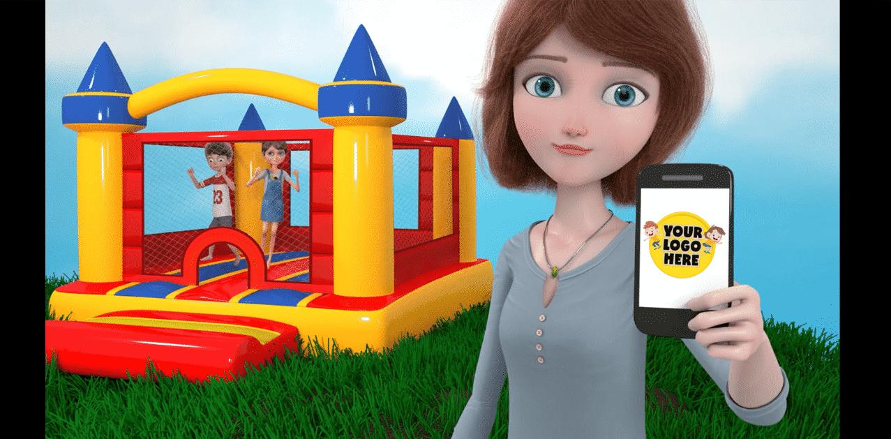 Animated bounce house advert
