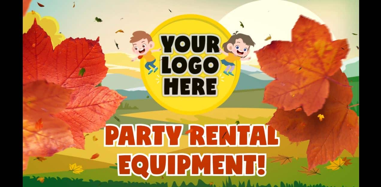 Seasonal advertising for Party Rentals