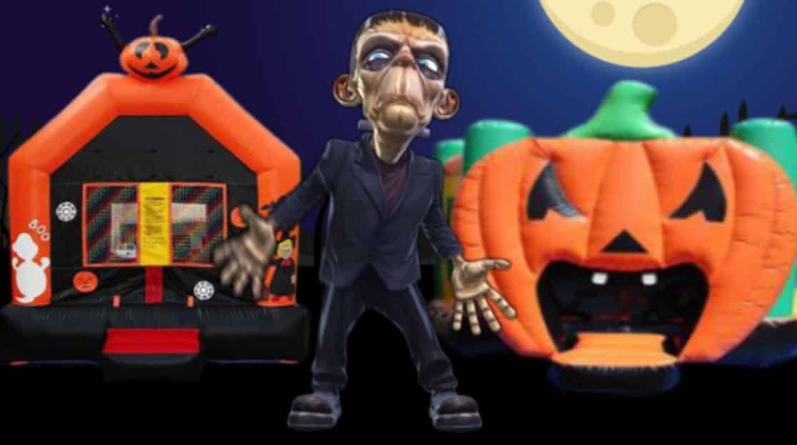 Halloween adverts for Bounce House companies