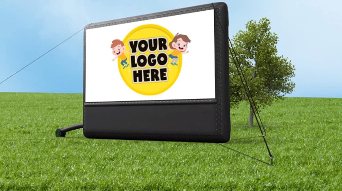 Inflatable Cinema Screen Advertise